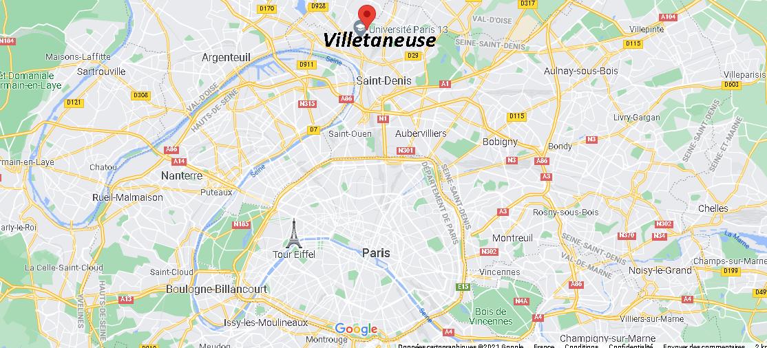 Où se trouve Villetaneuse