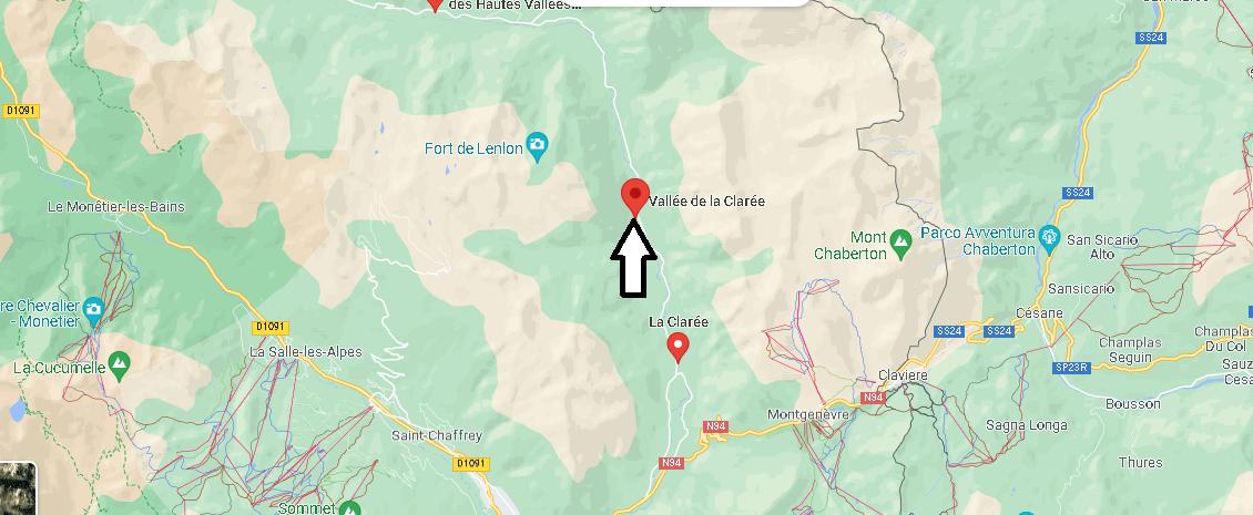 Où se trouve la vallée de la claree